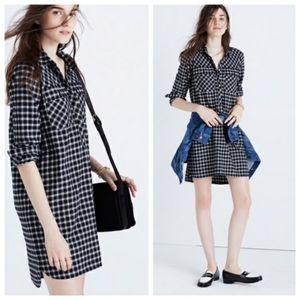Madewell Daywalk Flannel Shirt Dress